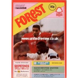Nottingham Forest<br>16/03/91