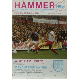 West Ham United<br>30/10/82